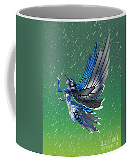 Coffee Mug featuring the digital art Blue Jay Fairy by Stanley Morrison