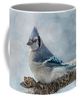 Blue Jay Perch Coffee Mug