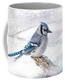 Blue Jay Snow Coffee Mug