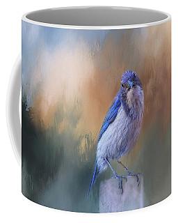 Blue Jay Visit Coffee Mug