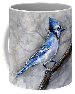 Blue Jay Watercolor Coffee Mug