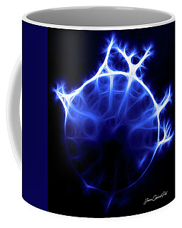 Blue Jelly Fish Coffee Mug by Joann Copeland-Paul