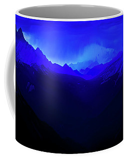 Coffee Mug featuring the photograph Blue by John Poon