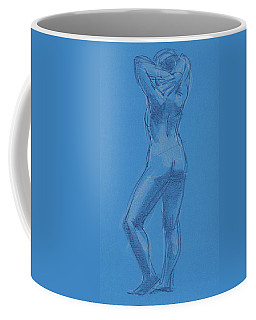 Coffee Mug featuring the painting Blue by Judith Kunzle