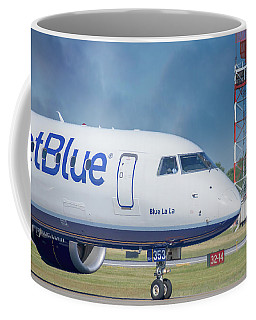 Blue La La Coffee Mug by Guy Whiteley