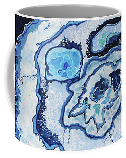 Coffee Mug featuring the painting Blue Lace Agate I by Ellen Levinson