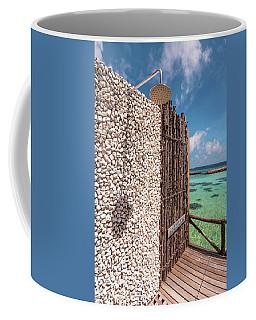Coffee Mug featuring the photograph Blue Lagoon View 1 by Jenny Rainbow