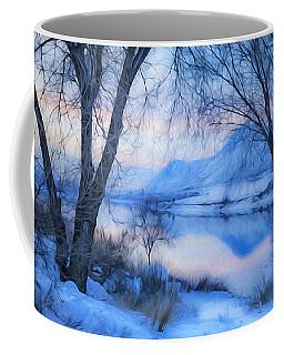 Blue Landscape Coffee Mug by Theresa Tahara