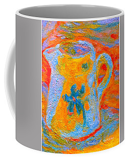 Coffee Mug featuring the painting Blue Life by Kendall Kessler