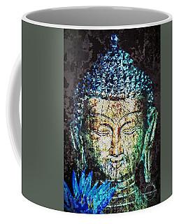 Blue Lotus Buddha Coffee Mug