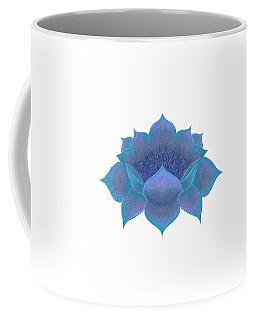 Coffee Mug featuring the digital art Blue Lotus by Elizabeth Lock