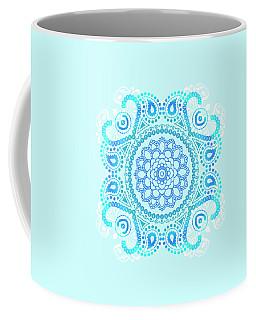 Coffee Mug featuring the painting Blue Lotus Mandala by Tammy Wetzel