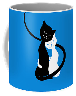 Blue Love Cats Coffee Mug
