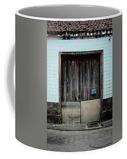 Coffee Mug featuring the photograph Blue Mailbox by Marco Oliveira