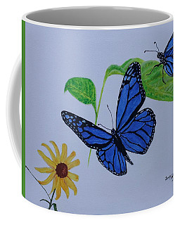 Blue Monarch Coffee Mug
