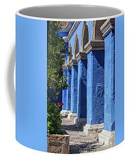 Blue Monastery Coffee Mug by Patricia Hofmeester