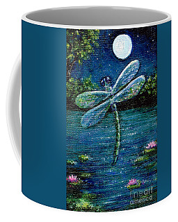 Blue Moon Dragonfly Coffee Mug by Sandra Estes