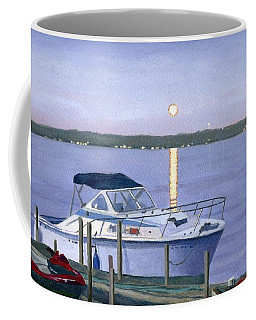 Coffee Mug featuring the painting Blue Moon by Lynne Reichhart