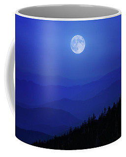 Blue Moon Over Smoky Mountains Coffee Mug