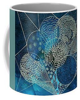 Coffee Mug featuring the mixed media Blue Moon by Riana Van Staden