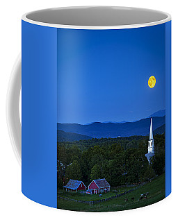 Blue Moon Rising Over Church Steeple Coffee Mug