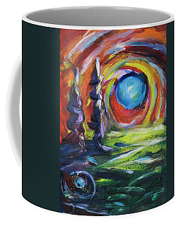 Blue Moon Coffee Mug by Yulia Kazansky