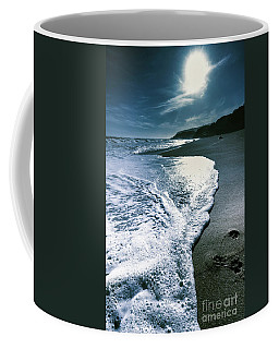Coffee Mug featuring the photograph Blue Moonlight Beach Landscape by Jorgo Photography - Wall Art Gallery