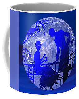 Blue Moonlight Lovers Coffee Mug