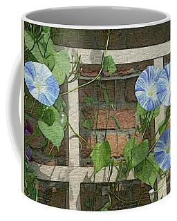 Blue Morning Glories Coffee Mug