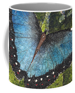 Blue Morpho Butterfly Batik Coffee Mug
