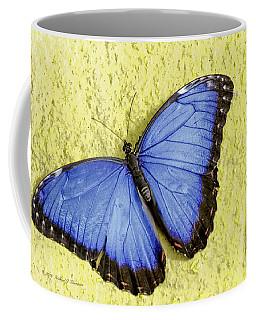 Blue Morpho Butterfly Coffee Mug