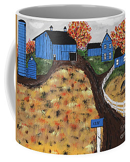 Coffee Mug featuring the painting Blue Mountain Farm by Jeffrey Koss