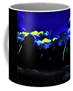 Coffee Mug featuring the painting Blue Mountains by Joan Reese