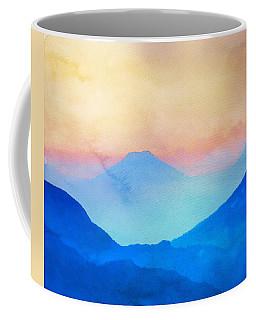 Blue Mountains Watercolour Coffee Mug