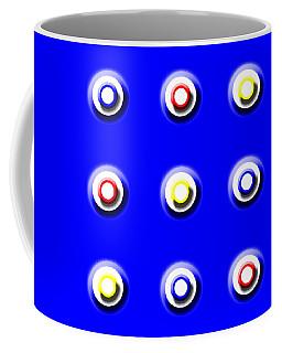 Blue Nine Squared Coffee Mug