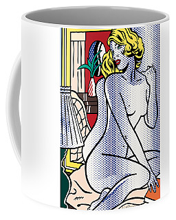 Blue Nude - Pop Art  Coffee Mug