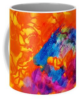 Blue On Orange Coffee Mug