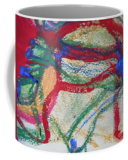 Blue On Red Coffee Mug