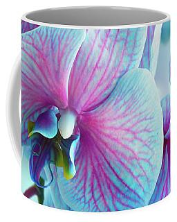 Blue Orchid Branch Coffee Mug by Anastasy Yarmolovich