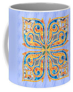Blue Oriental Tile 02 Coffee Mug