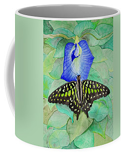 Blue Pea Visit Coffee Mug