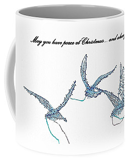 Blue Peace Doves Coffee Mug
