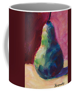 Blue Pear Coffee Mug by Yulia Kazansky