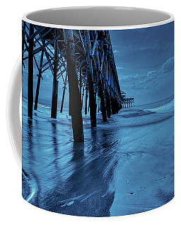 Coffee Mug featuring the photograph Blue Pier by RC Pics