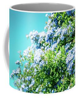 Blue Plumbago Maui Hawaii Coffee Mug by Sharon Mau
