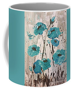 Coffee Mug featuring the painting Blue Poppies by Lucia Grilletto