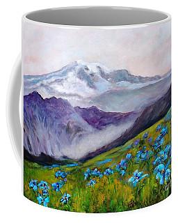 Blue Poppy Field Coffee Mug