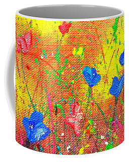 Blue Posies Coffee Mug
