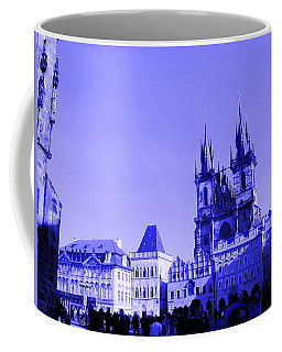 Coffee Mug featuring the photograph Blue Praha by Michelle Dallocchio