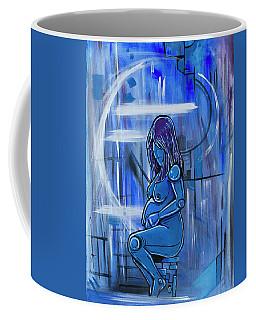 Blue Pregnancy Coffee Mug
